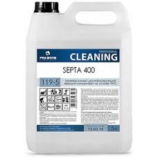 Универсальный дезинфицирующий моющий концентрат на основе ЧАС Septa 400 5л.