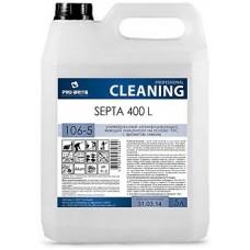 Универсальный дезинфицирующий моющий концентрат на основе ЧАС с ароматом лимона Septa 400 L 5л.