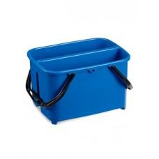 Ведро пластиковое для мытья окон 2 секции 2*10л синее, ударопрочное