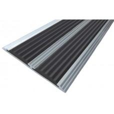 Профиль антискользящий с 2-мя резиновыми вставками (длина 3 м, ширина 80 мм)