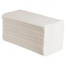 Полотенца листовые V-сложения 2-слойные 200 листов (белые, плотность 32 г/кв.м.))